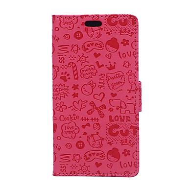Mert Huawei tok / P9 / P9 Lite / P8 / P8 Lite Pénztárca / Kártyatartó Case Teljes védelem Case Rajzfilmfigura Kemény Műbőr HuaweiHuawei