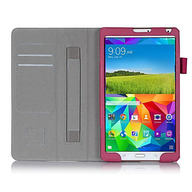 Mert Samsung Galaxy tok Kártyatartó / Állvánnyal / Flip Case Teljes védelem Case Egyszínű Műbőr Samsung Tab S 8.4