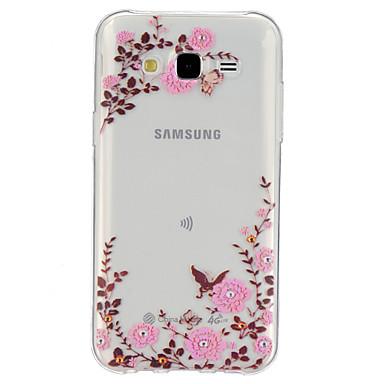 Voor Samsung Galaxy hoesje Transparant / Patroon hoesje Achterkantje hoesje Bloem TPU Samsung J5