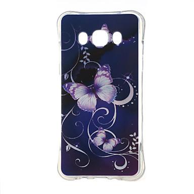 케이스 제품 Samsung Galaxy 삼성 갤럭시 케이스 충격방지 패턴 뒷면 커버 버터플라이 TPU 용 J5 (2016)