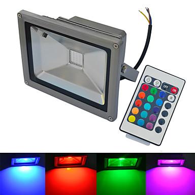 20W LED projektorok 1 COB 1500-1600 lm Meleg fehér / Hideg fehér / RGB Távvezérlésű / Vízálló AC 85-265 V 1 db.