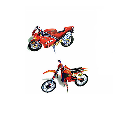 Quebra-Cabeças 3D Quebra-Cabeça Maquetes de Papel Motocicletas de Brinquedo Brinquedo Educativo Motocicletas 3D Diversão Papel Clássico