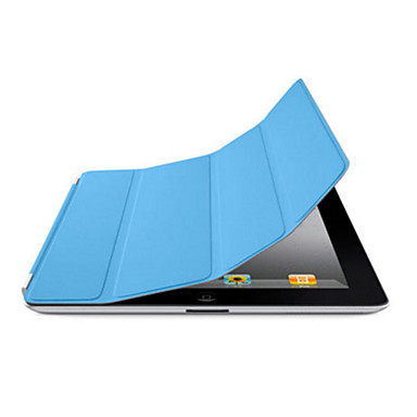 Capinha Para iPad 4/3/2 Cor Única Folio Auto Dormir/Despertar Design Especial PU Leather para