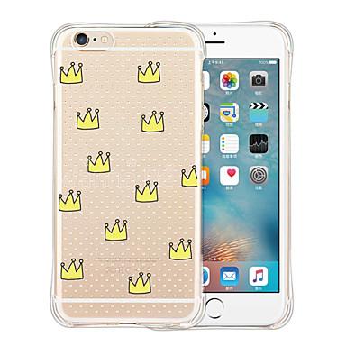케이스 커버 용 iPhone 6 iPhone 6 Plus 뒷면 커버 충격방지 투명 패턴 타일 소프트 실리콘 iPhone 6s Plus iPhone 6 Plus iPhone 6s iPhone 6 용