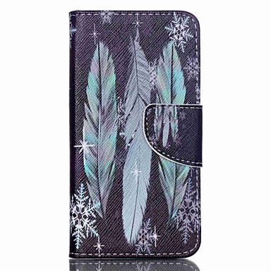 Capinha Para Acer Capinhas Acer Porta-Cartão Com Suporte Flip Estampada Corpo Inteiro Penas Rígida Couro Ecológico para