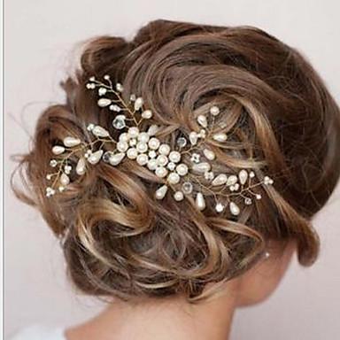 Недорогие Другие украшения-Жен. Элегантный стиль Жемчуг Гребни Подвески для волос Свадьба Для вечеринок