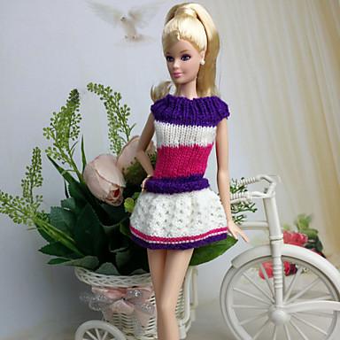 Informeel Jurken Voor Barbiepop Wollen Kleding Voor voor meisjes Speelgoedpop