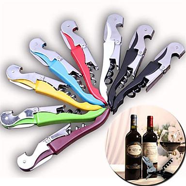 multi-função faca de metal saca-rolhas vinho cerveja tampa de garrafa abridor de hipocampo (cor aleatória)