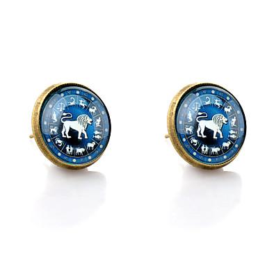 Beszúrós fülbevalók minimalista stílusú Szintetikus drágakövek Üveg Ötvözet Animal Shape Oroszlán Ékszerek Kompatibilitás Esküvő Parti