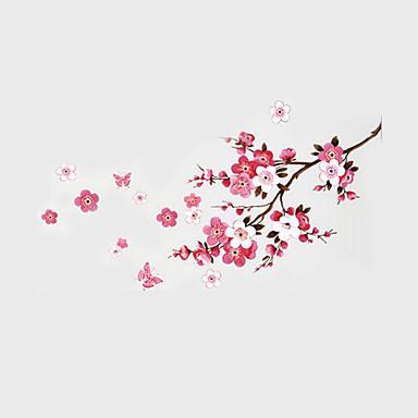Dieren Stilleven Romantiek Mode Botanisch Muurstickers Vliegtuig Muurstickers Decoratieve Muurstickers, Papier Huisdecoratie Muursticker