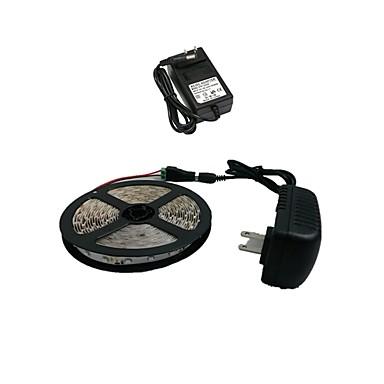 Z®zdm 5m 300x3528 smd sıcak beyaz led şerit ışık ve konnektör ve ac110-240v ila dc12v2a eu / us transformatörü