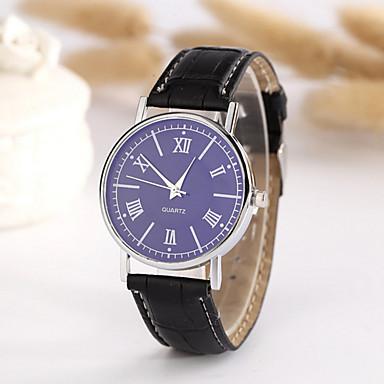 남성용 패션 시계 석영 캐쥬얼 시계 가죽 밴드 블랙 그레이