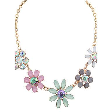 Női Divat Méretes ékszerek aranyos stílus Európai Nyilatkozat nyakláncok Biserna ogrlica Szintetikus drágakövek Gyöngy Ötvözet