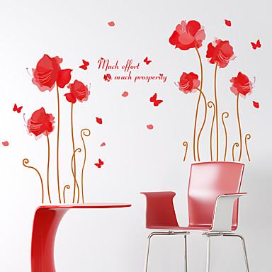 로맨스 / 패션 / 플로럴 / 풍경 벽 스티커 플레인 월스티커,pvc 60*90cm