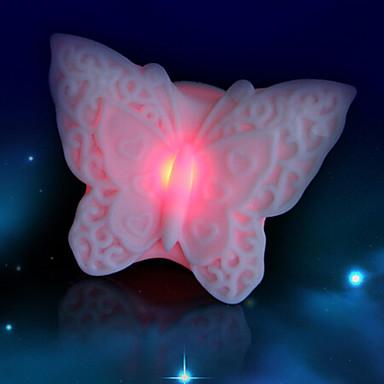 창조적 인 컬러 변화하는 화려한 나비는 야간 조명을 주도