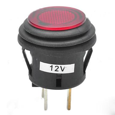 빨간색 스위치를 래칭 jtron의 12V 20A 자동차 푸시 버튼 / 파란색 표시등을 주도