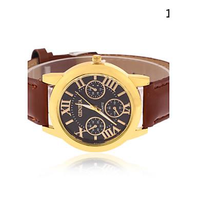 Homens Relógio de Pulso Quartzo Relógio Casual Couro Banda Analógico Amuleto Preta / Marrom - # 2 # 3 # 4 Um ano Ciclo de Vida da Bateria / Tianqiu 377