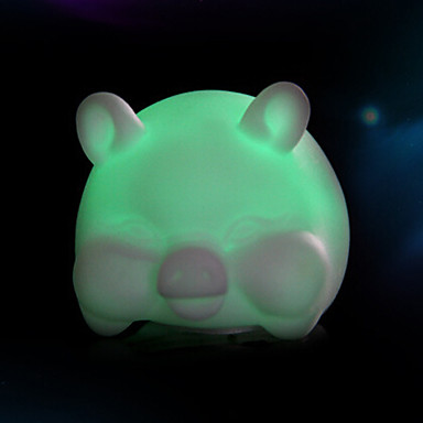창조적 인 컬러 변화하는 다채로운 돼지 야간 조명을 주도