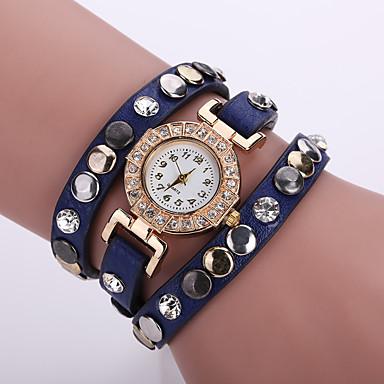 Dámské Náramkové hodinky Křemenný Černá   Bílá   Modrá Žhavá sleva  Analogové dámy Květina Cikánské Módní d539db1278