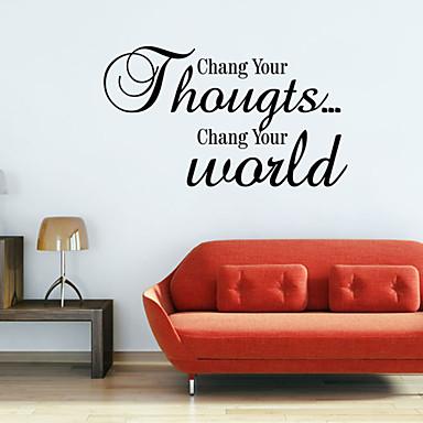 로맨스 Words & Quotes 벽 스티커 플레인 월스티커 데코레이티브 월 스티커, 비닐 홈 장식 벽 데칼 벽