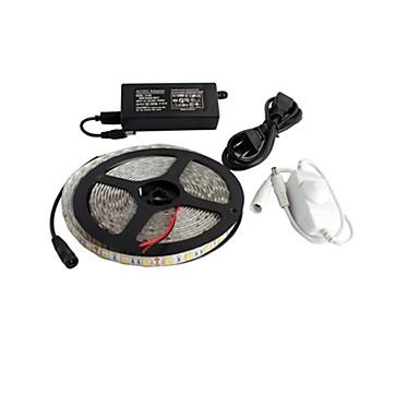 ZDM® 5m Bare De Becuri LED Rigide 300 LED-uri 5050 SMD / SMD5050 Adaptor de alimentare de 1 X 5A / 1 x comutator dimmer Alb Rezistent la apă / De Legat / Auto- Adeziv 100-240 V / 12 V 1set / IP65
