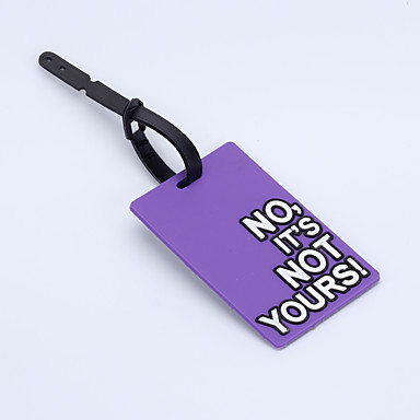 Travel Luggage Tag / Inflated Mat Luggage Accessory Plastic Pink