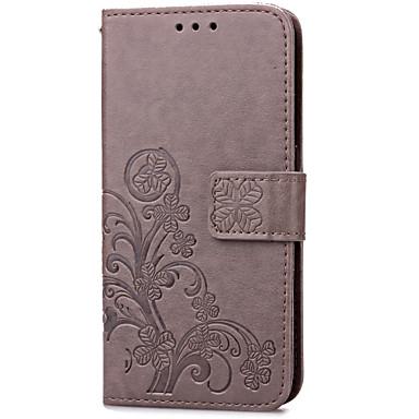 Недорогие Чехлы и кейсы для Galaxy S4 Mini-Кейс для Назначение SSamsung Galaxy S5 Mini / S4 Mini / S3 Mini Кошелек / Бумажник для карт / со стендом Чехол Цветы Кожа PU