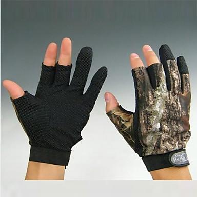 mănuși Mănuși de Pescuit Fără Degete Aruncare Momeală Rezistent la Vânt Anti-Alunecare Rezistent la uzură Pânză Nailon Primăvară Vară Toamnă Unisex