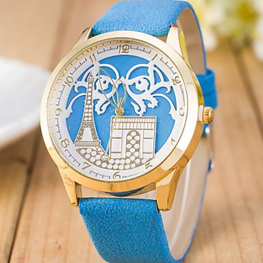 여성용 패션 시계 석영 캐쥬얼 시계 스위스 디자이너 가죽 밴드 블랙 멀티컬러