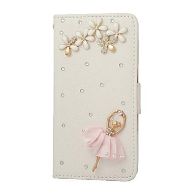 iphone6 / 기가 / 6plus / 6splus에 대한 카드 슬롯 및 자기 폐쇄와 수제 블링 다이아몬드 크리스탈 보석 PU 가죽 케이스