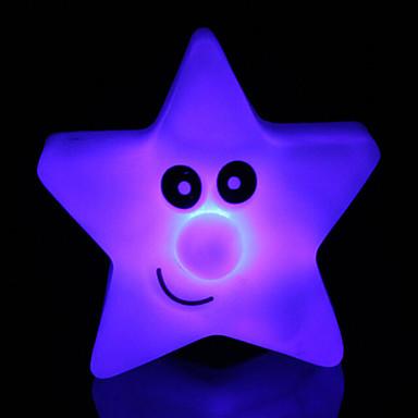 kreatív színváltó akril csillag fény színes ötcsillagos vezetett éjszakai fény kis lámpás lakberendezési