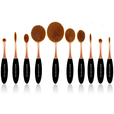 10 Kefe készlet Szintetikus hajszál Profesionalni / Teljeskörű ismertetés Plastic Arc / Szem / Ajak MAKE-UP FOR YOU