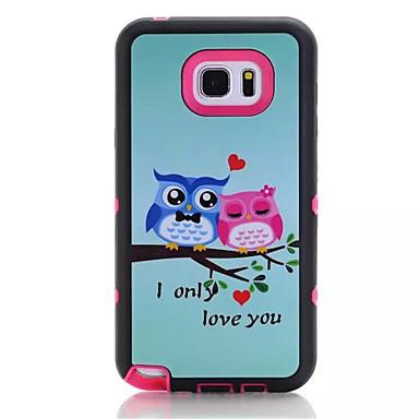 Mert Samsung Galaxy Note Ütésálló / IMD / Minta Case Hátlap Case Bagoly PC Samsung Note 5
