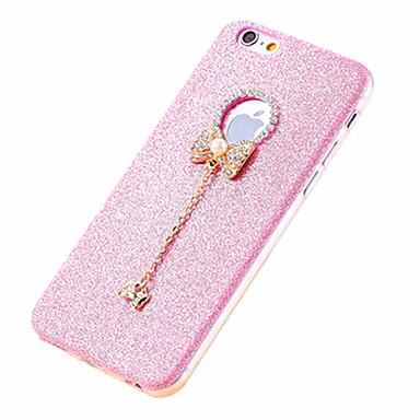 Capinha Para iPhone 6 iPhone 6 Plus Com Strass Capa Traseira Glitter Brilhante Macia TPU para iPhone 6s Plus iPhone 6 Plus iPhone 6s