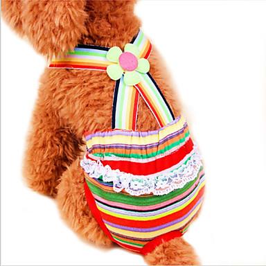 Pisici Câine Pantaloni Îmbrăcăminte Câini Dungi Curcubeu Bumbac Costume Pentru animale de companie Cosplay Nuntă