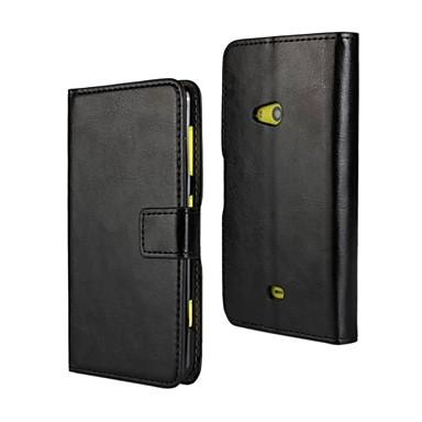 Mert Nokia tok Pénztárca / Kártyatartó / Állvánnyal Case Teljes védelem Case Egyszínű Kemény Műbőr Nokia Nokia Lumia 625