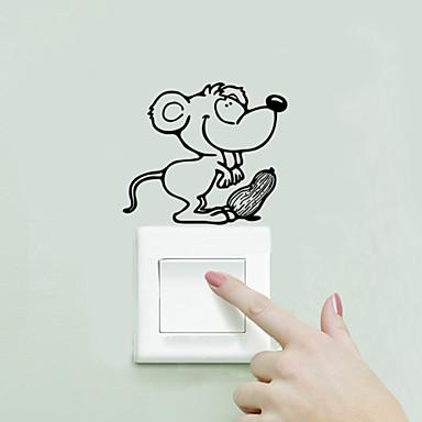 애니멀 / 카툰 / 워드&인용구(부호) / 로맨스 / 패션 / 풍경 / 모양 / 빈티지 / 판타지 벽 스티커 플레인 월스티커,PVC 9cm x 10cm ( 4in x 4in )