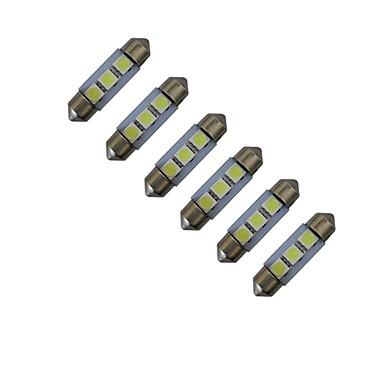 6pcs 60lm Festoon Διακοσμητικό Φως 3 LED χάντρες SMD 5050 Ψυχρό Λευκό 12V