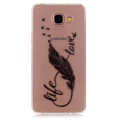 Case Kompatibilitás Samsung Galaxy Samsung Galaxy tok Átlátszó Minta Fekete tok Tollak TPU mert A5(2016) A3(2016)