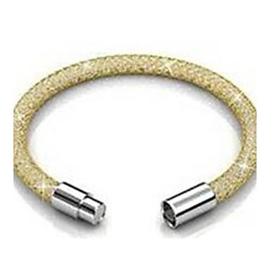 Női Bilincs karkötők Kristály Rozsdamentes acél Arannyal bevont Ezüst Rózsa Aranyozott Ékszerek 1db