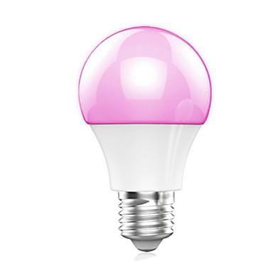 E26/E27 Lâmpada de LED Inteligente A60(A19) 10 leds SMD 5050 Bluetooth Branco Quente RGB 400lm RGB+3000KK AC 100-240V