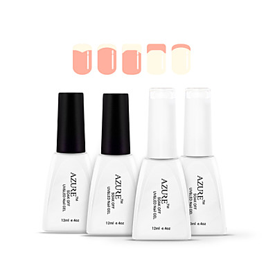 azuurblauwe 4pcs lot losweken nagel gel french manicure nagellak 12ml roze wit basis. Black Bedroom Furniture Sets. Home Design Ideas