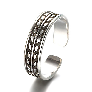 Gyűrűk Régies (Vintage) Napi / Hétköznapi Ékszerek Ezüst Karikagyűrűk 1db,Állítható Ezüst