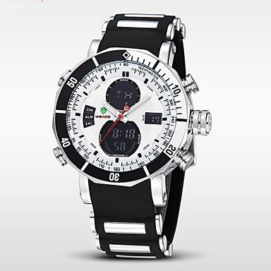 WEIDE Heren Polshorloge Digitaal horloge Kwarts Digitaal Japanse quartz LCD Kalender Chronograaf Waterbestendig Dubbele tijdzones alarm