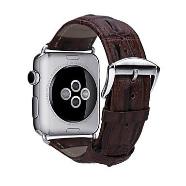 Nézd Band mert Apple Watch Series 3 / 2 / 1 Apple Hagyományos csat Valódi bőr Csuklópánt