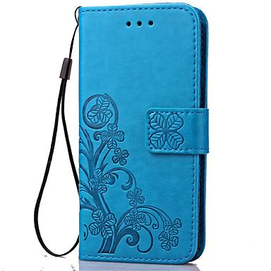 halpa Galaxy S4 Mini kotelot / kuoret-DE JI Etui Käyttötarkoitus Samsung Galaxy Samsung Galaxy kotelo Lomapkko / Korttikotelo / Tuella Suojakuori Kukka Pehmeä PU-nahka varten S5 Mini / S4 Mini / S3 Mini
