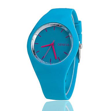 1f5cb171cbf baratos Relógios Femininos-Mulheres Relógio de Pulso Quartzo Silicone Preta    Branco   Azul Relógio