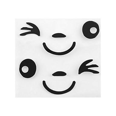 자동차 사이드 미러 백미러에 대한 ziqiao 월 새로운 도착 미소 얼굴 디자인 3D 장식 스티커