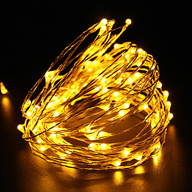 10m 구리 와이어 방수 led 문자열 빛 dc12v 100led 축제 파티 장식 빛 야외