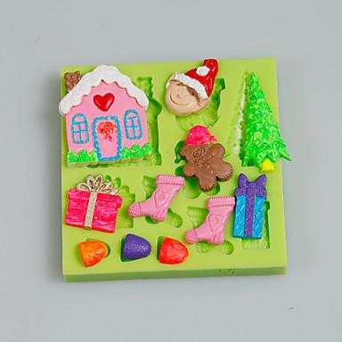 sütőformát Cartoon Shaped Torta Palacsinta Keksz Csokoládé Szilikon DIY Karácsony Jó minőség